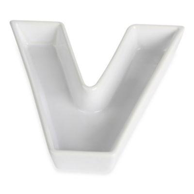 """Ivy Lane Design™ Ceramic Letter """"V"""" Candy Dish"""