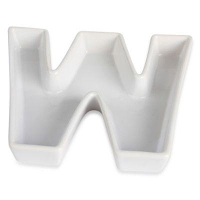 "Ivy Lane Design™ Ceramic Letter ""W"" Candy Dish"