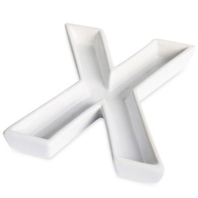 "Ivy Lane Design™ Ceramic Letter ""X"" Candy Dish"