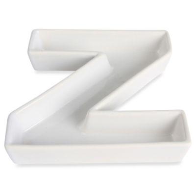 "Ivy Lane Design™ Ceramic Letter ""Z"" Candy Dish"