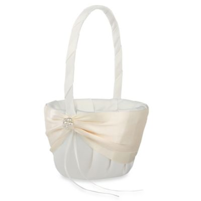 Ivy Lane Design™ Nostalgia Flower Girl Basket with Rhinestone Accent in Ivory