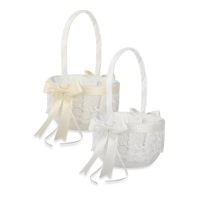 Ivy Lane Design™ Chantilly Lace Flower Girl Basket in Ivory