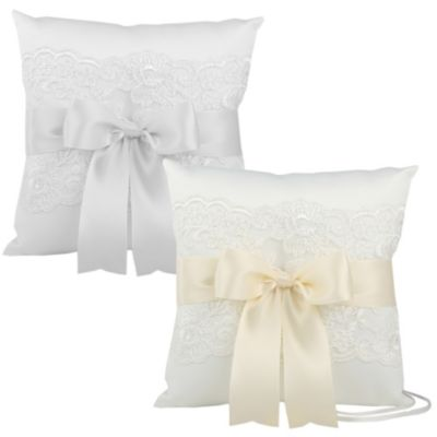 Ivy Lane Design™ Chantilly Lace Ring Pillow in Ivory