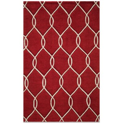 Bliss 2-Foot x 3-Foot Rug in Red