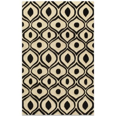 Bliss 2-Foot x 3-Foot Rug in Black