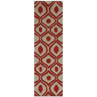 Momeni Bliss 2-Foot 3-Inch x 8-Foot Rug in Red