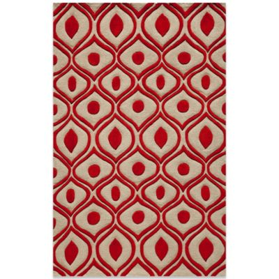 Momeni Bliss 3-Foot 6-Inch x 5-Foot 6-Inch Rug in Red