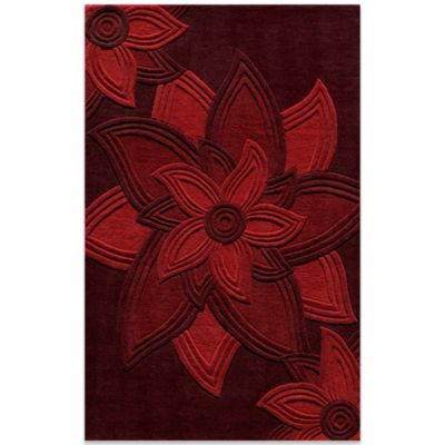 5-Foot x 8-Foot Delhi Rug in Red