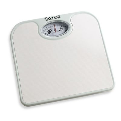 Metro Ez Read Dial Bathroom Scale in White