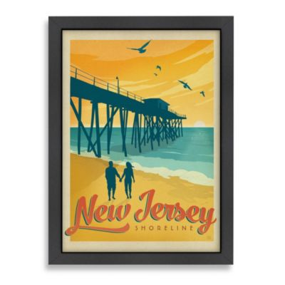 Americanflat Jersey Shore Framed Wall Art