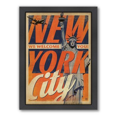 Americanflat New York City Welcomes You Framed Wall Poster