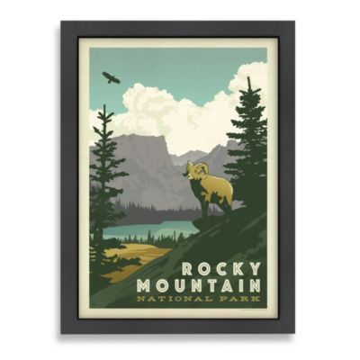Americanflat Rocky Mountains Framed Wall Art