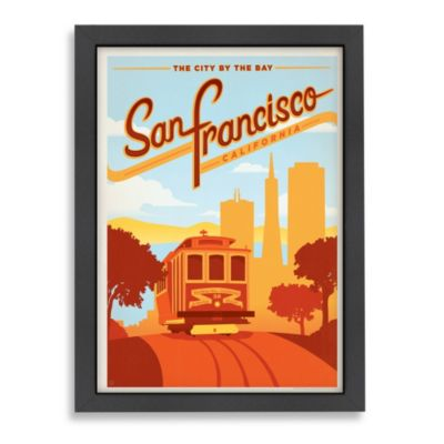 Americanflat San Francisco Tram Framed Wall Art