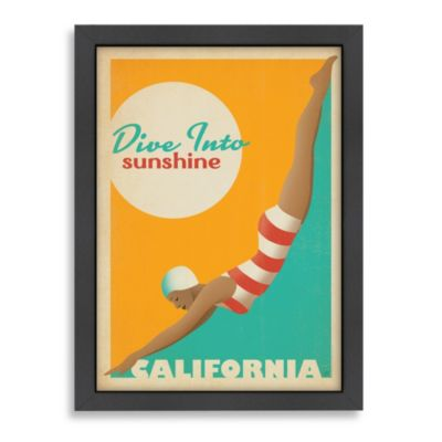 Americanflat California Sun Framed Wall Art
