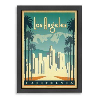 Americanflat Los Angeles California Framed Wall Art