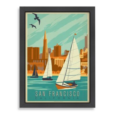 Americanflat San Francisco Sailboats Framed Wall Art