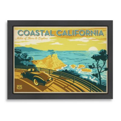 "Americanflat ""Coastal California"" Framed Art"