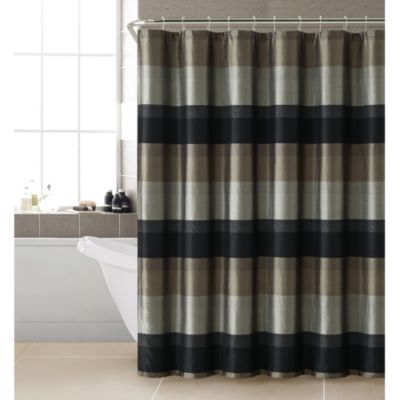 Hudson Shower Curtain in Black