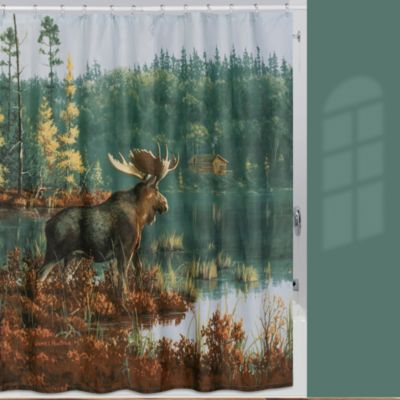 Shower Curtain Moose