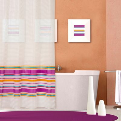 Stripe 70-Inch x 72-Inch PEVA Shower Curtain in Multicolor