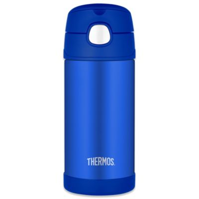 Thermos® 12 oz. Stainless Steel Straw Bottle in Blue