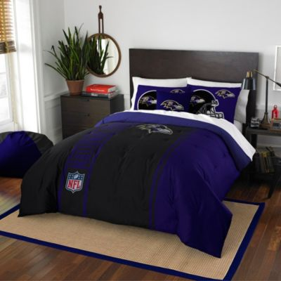 NFL Baltimore Ravens Full Embroidered Comforter Set