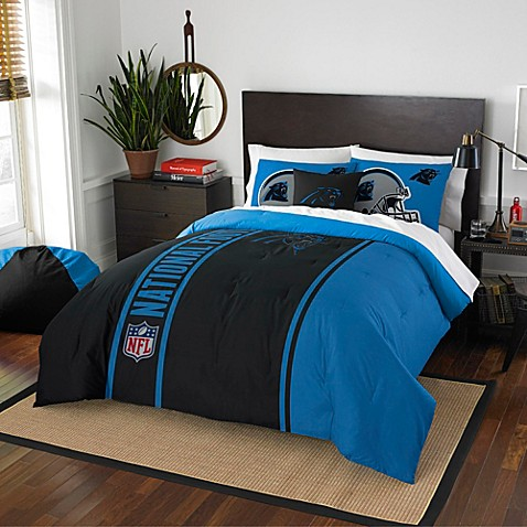 Buy Nfl Carolina Panthers Full Embroidered Comforter Set