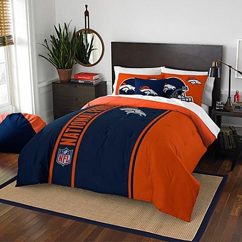 Buy nfl denver broncos full embroidered comforter set from for Denver broncos bedroom ideas