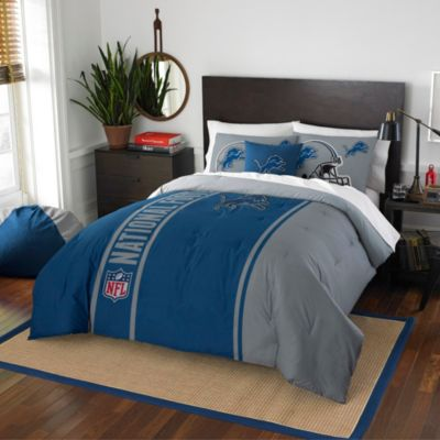 NFL Detroit Lions Full Embroidered Comforter Set
