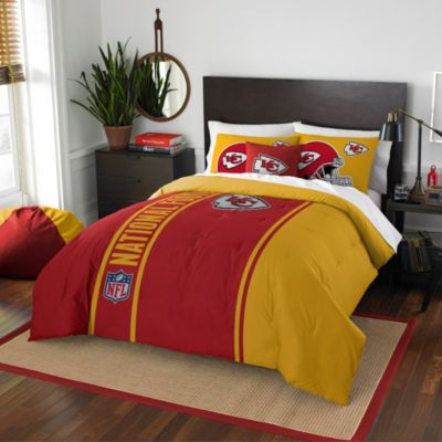 NFL Kansas City Chiefs Full Embroidered Comforter Set