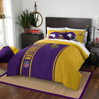 NFL Minnesota Vikings Full Embroidered Comforter Set