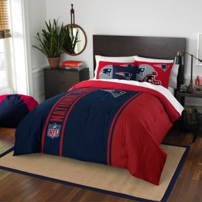 NFL New England Patriots Twin Embroidered Comforter Set