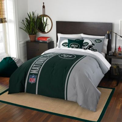 NFL New York Jets Full Embroidered Comforter Set