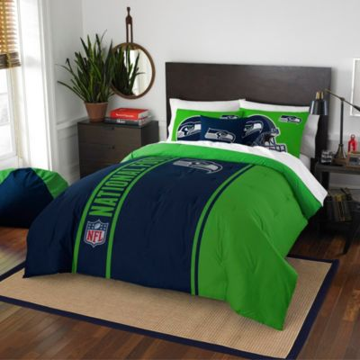NFL Seattle Seahawks Full Embroidered Comforter Set