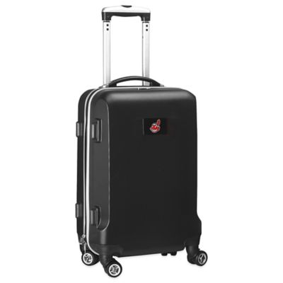 MLB Cleveland Indians 20-Inch Hardside Carry On Spinner in Black