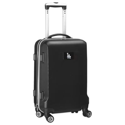 MLB Los Angeles Dodgers 20-Inch Hardside Carry On Spinner in Black