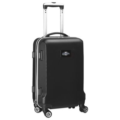 MLB Milwaukee Brewers 20-Inch Hardside Carry On Spinner in Black