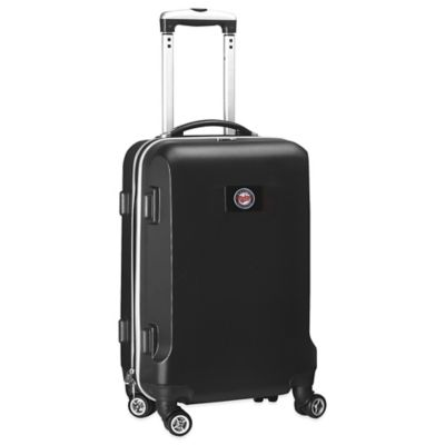 MLB Minnesota Twins 20-Inch Hardside Carry On Spinner in Black