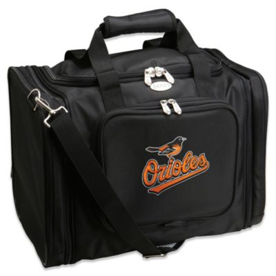 MLB Baltimore Orioles 22-Inch Drop Bottom Rolling Duffle Bag