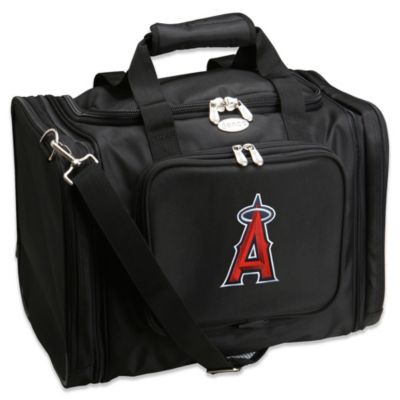 MLB Los Angeles Angels 22-Inch Drop Bottom Rolling Duffel Bag