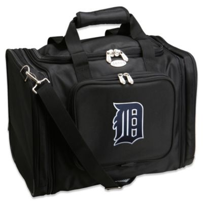 MLB Detroit Tigers 22-Inch Drop Bottom Rolling Duffle Bag