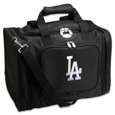 MLB Los Angeles Dodgers 22-Inch Drop Bottom Rolling Duffel Bag