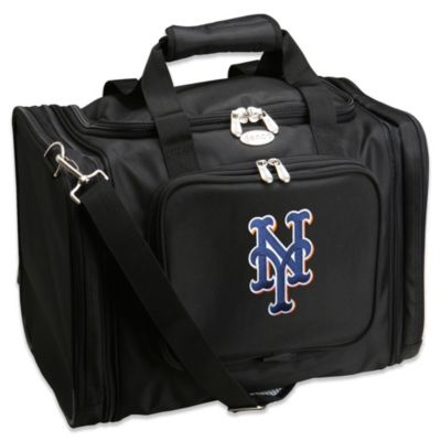 MLB New York Mets 22-Inch Drop Bottom Rolling Duffel Bag