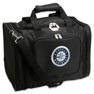 MLB Seattle Mariners 22-Inch Drop Bottom Rolling Duffel Bag