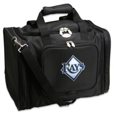 MLB Tampa Bay Rays 22-Inch Drop Bottom Rolling Duffel Bag