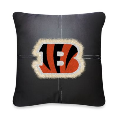 NFL Cincinnati Bengals 18-Inch Letterman Throw Pillow