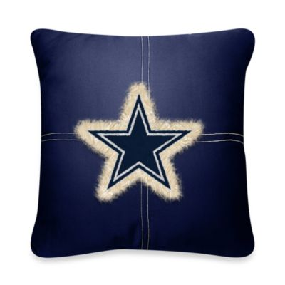 NFL Dallas Cowboys 18-Inch Letterman Toss Pillow