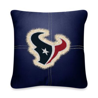 NFL Houston Texans 18-Inch Letterman Throw Pillow