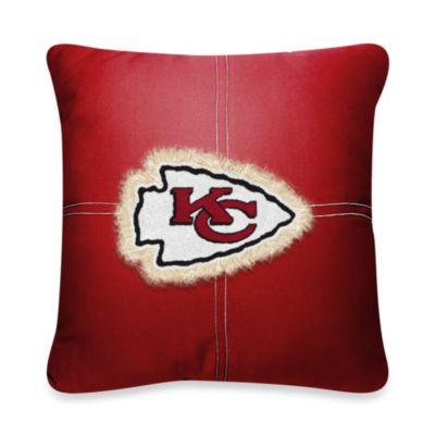 NFL Kansas City Chiefs 18-Inch Letterman Toss Pillow