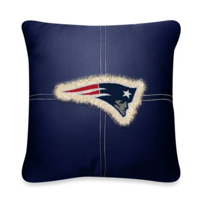 NFL New England Patriots 18-Inch Letterman Toss Pillow
